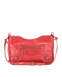 a5319f58a9 Balenciaga Classic Hip Leather Shoulder Bag in Red - Lyst