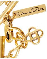 Oscar de la Renta - Red Anemone Resin Necklace - Lyst