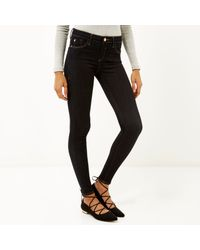 River Island - Little Blue Amelie Superskinny Jeans - Lyst