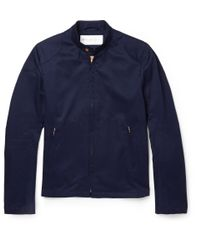 Private White V.c. | Blue Rainrider Cotton-Twill Jacket for Men | Lyst