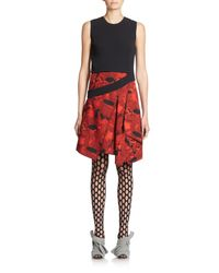 Proenza Schouler - Black Slash-detail Silk Dress - Lyst