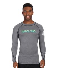 Rip Curl | Black Corp Long Sleeve Rashguard for Men | Lyst