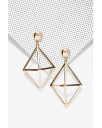 Nasty Gal | Metallic Foxy Roxy Cage Drop Earrings | Lyst