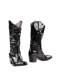 Janet & Janet - Black Boots - Lyst