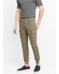 Vince | Green Stretch Twill Cargo Jogger for Men | Lyst