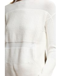 Helmut Lang | White Textured Inlay Pullover | Lyst