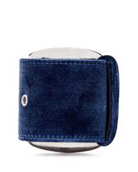 Givenchy | Blue Velvet Buckle Chunky Bracelet | Lyst