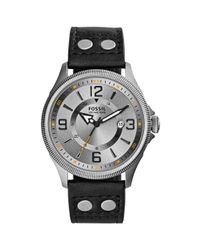 Fossil - Mens Recruiter Black Leather Strap Watch 42mm for Men - Lyst