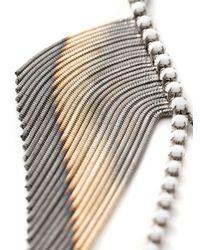 Iosselliani | Metallic Beaded Fringe Necklace | Lyst