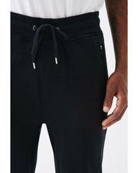 Forever 21 - Black Paneled Zipper Sweatpants for Men - Lyst