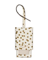 Kate Spade | Natural Cedar Street Confetti Dot Luggage Tag | Lyst