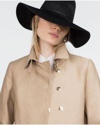Zara | Brown Cotton Trench Coat | Lyst