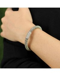 Carolina Bucci | Gray Leaf Sparkle Twister Band Bracelet | Lyst