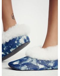 Free People - Blue Ariana Bohling Womens Winter Cabin Slipper - Lyst