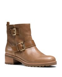 MICHAEL Michael Kors | Brown Gretchen Leather Ankle Boots | Lyst
