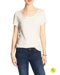 Banana Republic | White Factory Print Luxe-touch Tee | Lyst