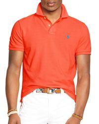 Ralph Lauren   Pink Polo Custom Mesh Polo Shirt – Slim Fit for Men   Lyst