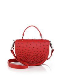 Christian Louboutin | Red Panettone Studded Messenger Bag | Lyst
