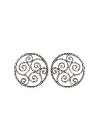 Arunashi - Metallic Flights Of Fantasy Diamond Earrings - Lyst