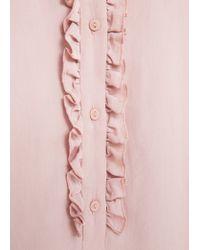 Mango - Pink Flowy Shirt - Lyst
