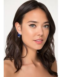 Bebe - Blue Lapis Stone Stud Earrings - Lyst