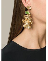 Aurelie Bidermann   Metallic Ginkgo Clip-on Earrings   Lyst