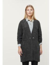 Violeta by Mango | Gray Buckle Wool Coat | Lyst