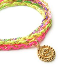 Juicy Couture | Multicolor Woven Cord Wrap Bracelet | Lyst