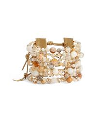 Chan Luu | White Wide Multistrand Bracelet - African Opal Mix | Lyst