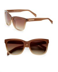 Vince Camuto | Brown 50Mm, Square Sunglasses | Lyst