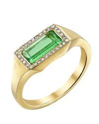 Irene Neuwirth - Metallic Emerald Ring - Lyst