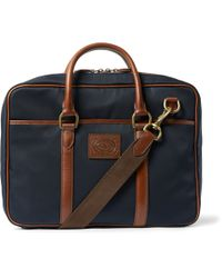 Polo Ralph Lauren | Blue Leather-Trimmed Canvas Bag for Men | Lyst
