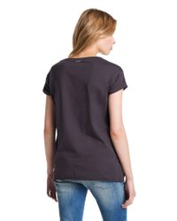 BOSS Orange - Black Cotton Tshirt Talmeise - Lyst
