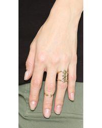 Pamela Love - Metallic Moon Age Ring - Antique Gold - Lyst