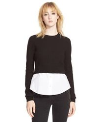 Marc By Marc Jacobs - Black 'superfelt' Shirttail Sweater - Lyst
