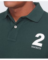 Hackett - Green Tailored Fit Number Polo Shirt for Men - Lyst
