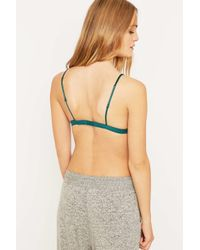 Urban Outfitters | Green Lace Triangle Bra | Lyst