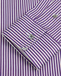 Ted Baker - Purple Pinstripe Shirt for Men - Lyst