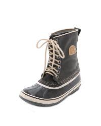 Sorel | 1964 Premium Canvas Boots - Black/fossil | Lyst