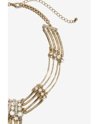 Nasty Gal | Metallic Chasing Waterfalls Rhinestone Necklace | Lyst