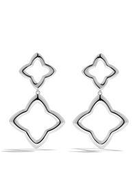 David Yurman | Metallic Quatrefoil Double-drop Earrings | Lyst