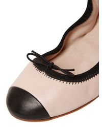 Bloch | Black Luxury Two-tone Patent-leather Ballet Flats | Lyst