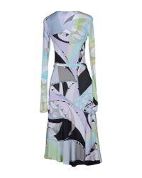 Emilio Pucci - Green Knee-length Dress - Lyst