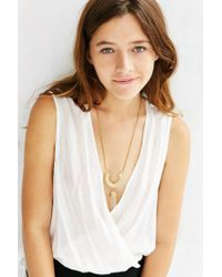 Urban Outfitters | Metallic Crystal Arc Pendant Necklace | Lyst