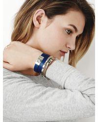 Banana Republic | Blue Colored Leather Wrap Bracelet | Lyst