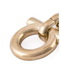 Ferragamo - Metallic Gancio Charm Necklace - Lyst