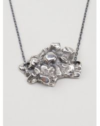 Maxime Llorens | Metallic Heart Crystal Pendant Necklace | Lyst