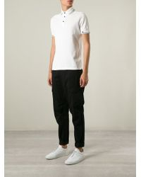 Stone Island | White Contrasting Stripes Polo Shirt for Men | Lyst