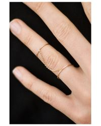 Saskia Diez | Metallic Double Wire Ring | Lyst