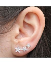 Anne Sisteron | 14kt White Gold Diamond Etoile Ear Cuff | Lyst